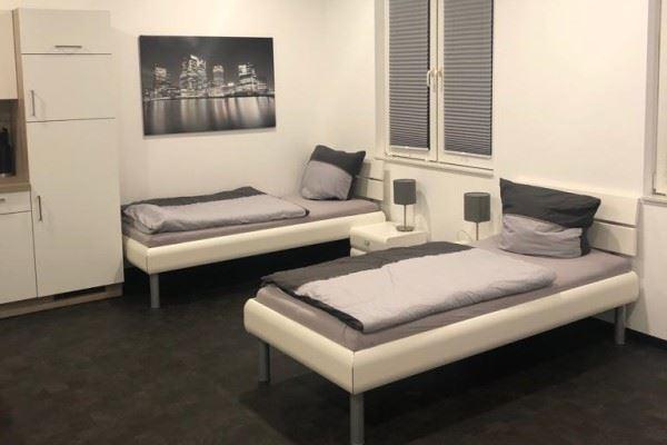 Blick in ein Monteurzimmer im Zentrum Kölns.