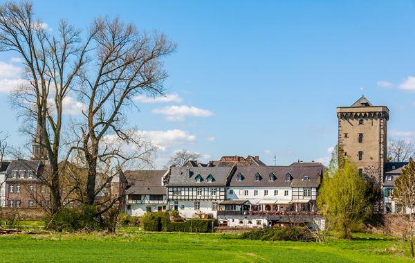 Blick aus einem Monteurzimmer im Stadtteil Köln Chorweiler